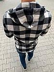 Мужская стильная рубашка на замке (черно-белая) - Турция, фото 2