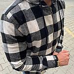 Мужская стильная рубашка на замке (черно-белая) - Турция, фото 3