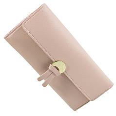 ✓Модный женский кошелек Baellerry N1191 Розовый для денег визиток удобный и оригинальный клатч