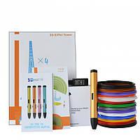 3D-ручка Air Pen Play V6 Bronze с Набором PLA Пластика 60 метров (12 цветов) и Аксессуары