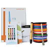 3D-ручка Air Pen Play V6 Bronze с Набором PLA Пластика 120 метров (12 цветов) и Аксессуары