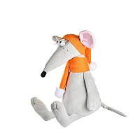 """Мягкая игрушка """" Мышонок Чииз с оранжевым шарфом и шапкой"""", 24 см"""