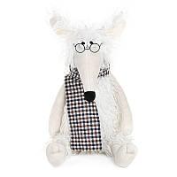 """Мягкая игрушка """"Мышонок Пушистик с шарфом в клеточку"""", 28 см"""