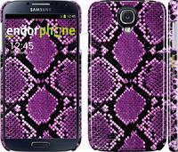 "Чехол на Samsung Galaxy S4 i9500 Фиолетовая кожа змеи ""1005c-13"""