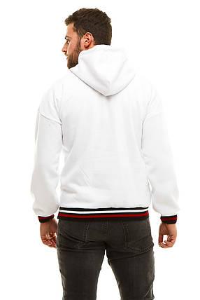 Худи с капюшоном трехниткa 7367 oversize (48-52) белый, фото 2