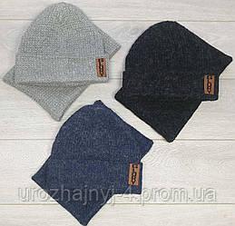 Набор шапка и хомут на флисе для мальчиков р52-54