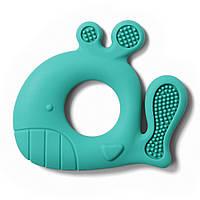 Силіконовий прорізувач для зубів Кит синій BabyOno 935/01