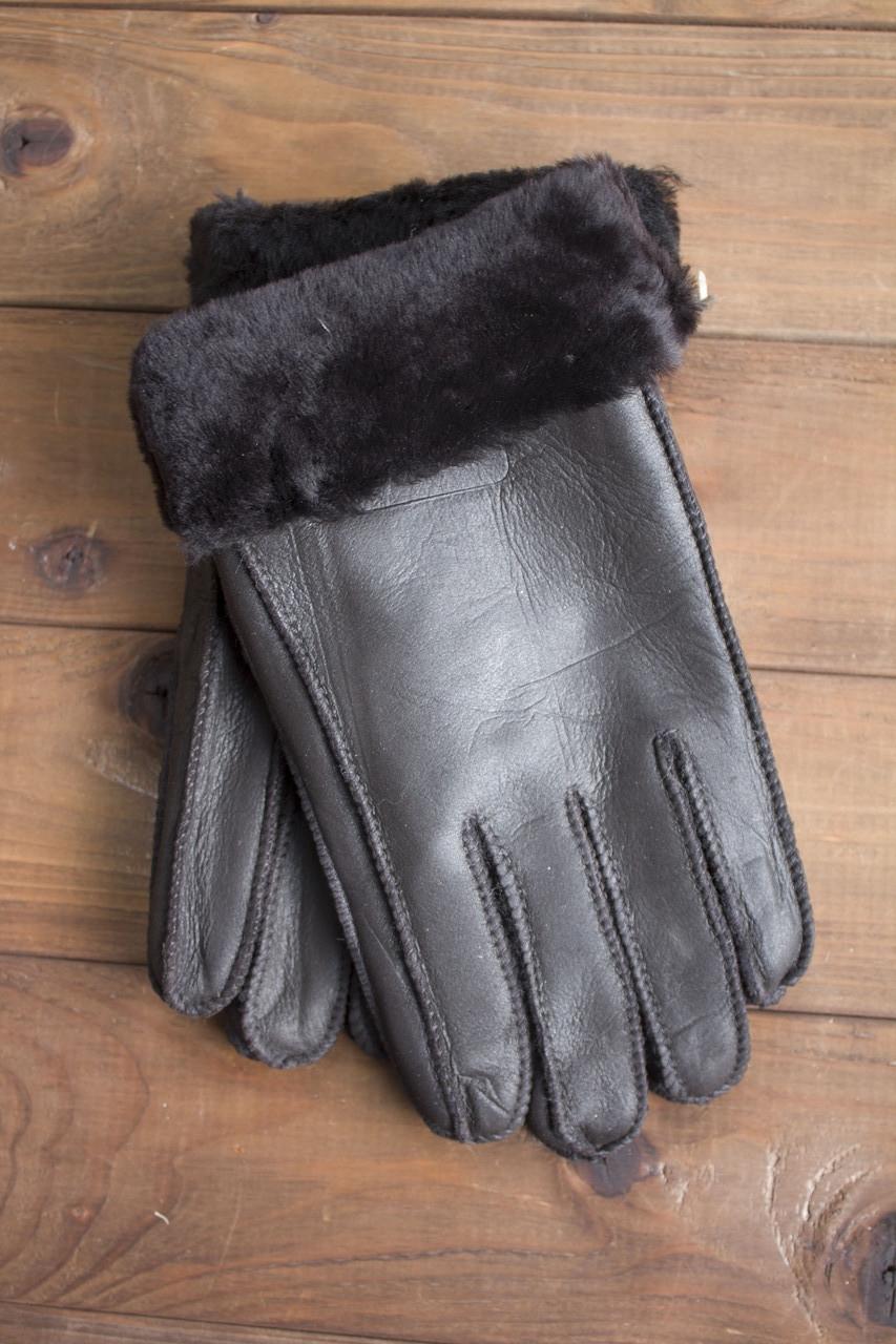 Мужские перчатки темно-коричневый Виктор 894 размерL