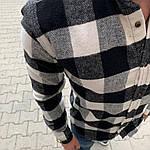 Мужская стильная рубашка (черно-белая) - Турция, фото 2