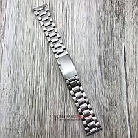 Браслет для часов стальной универсальный серебро 22 мм (08288)