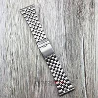 Браслет для часов стальной универсальный серебро 30 мм (08289)