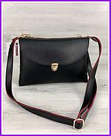 Женская сумка маленькая черного цвета, через плечо, клатч