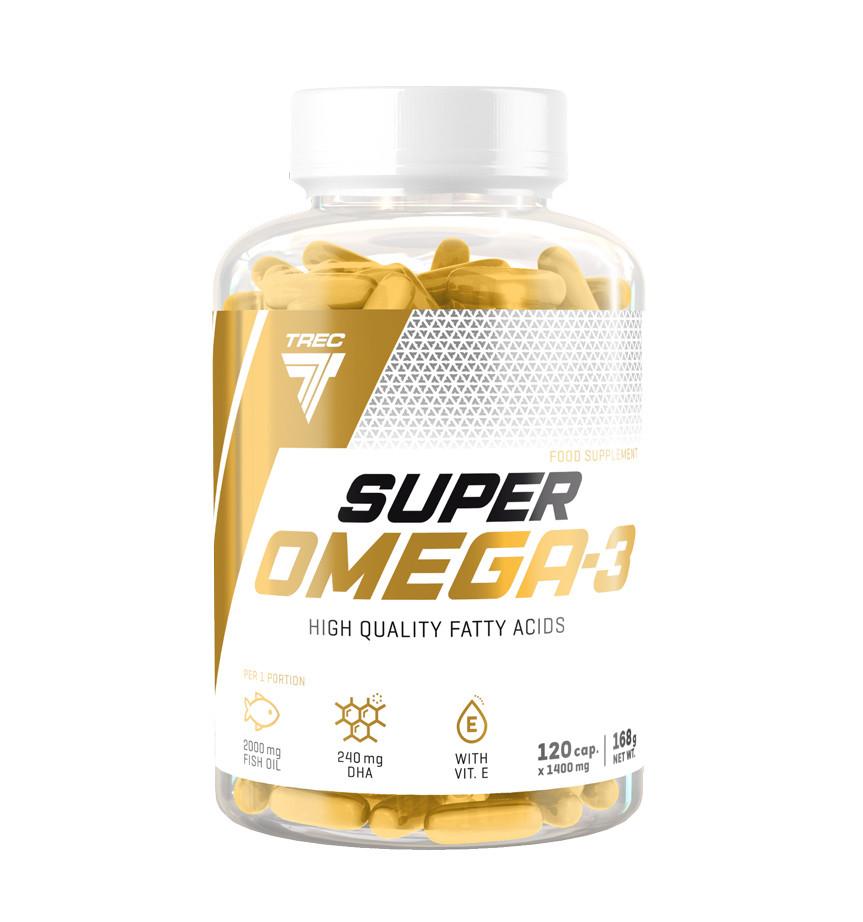 Полиненасыщенные жирные кислоты Super Omega-3 (120 капс.) Trec Nutrition