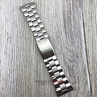 Браслет для часов стальной универсальный серебро 28 мм (08291)