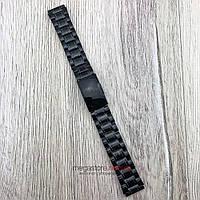 Браслет для часов стальной универсальный черный 18 мм (08294)