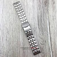 Браслет для часов стальной универсальный серебро 22 мм (08296)