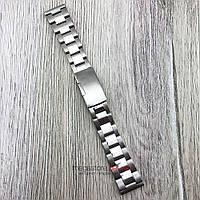 Браслет для часов стальной универсальный серебро 20 мм (08297)