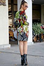 Яркое платье выше колен по фигуре цвет т.-синий с красным, фото 2