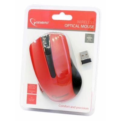Мышь беспроводная Gembird MUSW-101-R красная USB