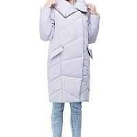 Стильный теплый удлиненный зимний пуховик 2019 размеры большие 42-54