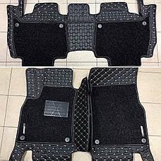 Комплект ковриков из экокожи для Toyota Prado 150, от 2016 года, на 5/7 мест, фото 2