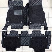 Комплект ковриков из экокожи для Toyota Prado 150, от 2016 года, на 5/7 мест