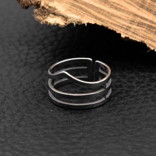 Кільце з медичної сталі жіноче 12 мм