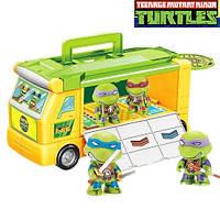 Игровой набор - Фургон с героями Черепашки ниндзя. Автобус, боевая машина с фигурками