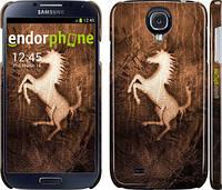 "Чехол на Samsung Galaxy S4 i9500 Логотип Феррари на коже ""133c-13"""