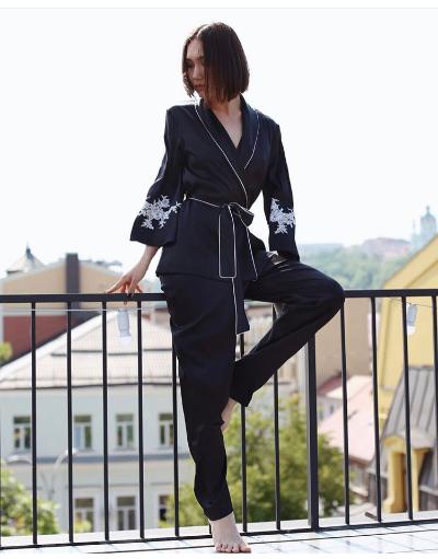 Черная домашняя пижама Suavite Gwen