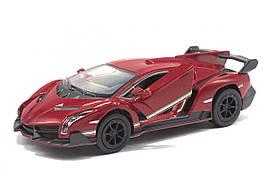 Машинка KINSMART Lamborghini Veneno (бордовая)