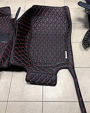 Комплект ковриков из экокожи для Mercedes GL X164, на 5/7 мест, фото 3