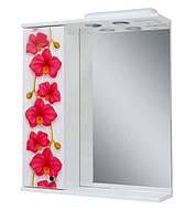 Зеркало для ванной 60-01 левое Орхидея (новинка)