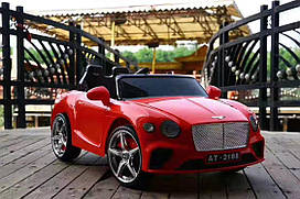 Эл-мобиль T-7644 EVA RED легковая на Bluetooth 2.4G Р/У 2*6V4.5AH мотор 2*25W с MP3 108*68*48/1/