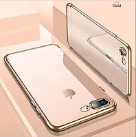 Прозрачный,противоударный силиконовый чехол  для iPhone 5 5S