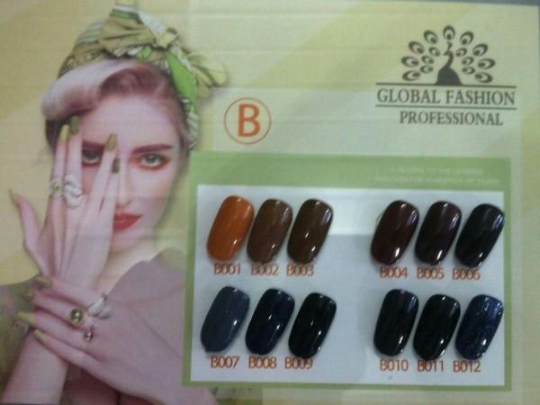 Колекційний гель-лак Global Fashion Серії «B» №001-012 (10 мл)