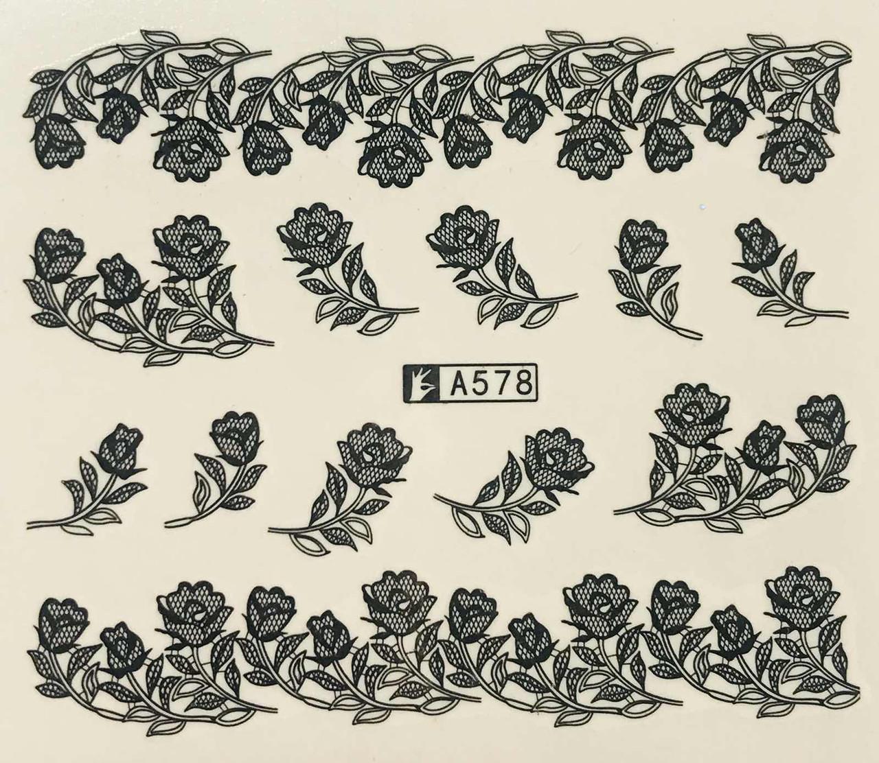 Слайд для дизайна ногтей А578