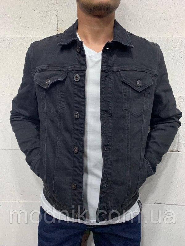 Мужской джинсовый пиджак (черный) - Турция