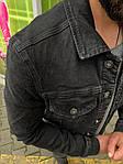 Мужской джинсовый пиджак (черный) - Турция, фото 6