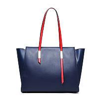 Женская сумка из натуральной кожи синего цвета Блюлайн С803, фото 1