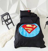 """Дитячий постільний комплект білизни з аплікацією """"Супермен"""""""