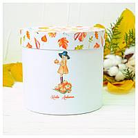 "Подарочная коробка ""Autumn Girl"" d16 h15"