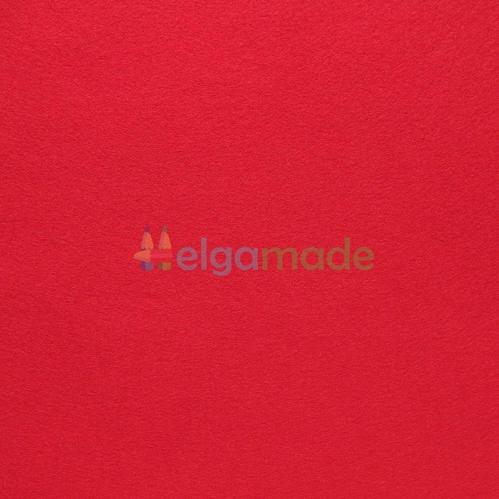 Фетр американский ЯРКО-КРАСНЫЙ, 15x23 см, 1.3 мм, полушерстяной мягкий