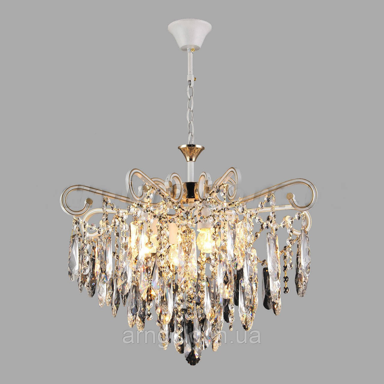 Люстра подвесная хрустальная на четыре лампы 3-E1712/4 D530
