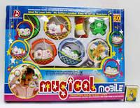 Музыкальная детская карусель с игрушками (7) Код 40884