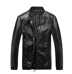 Мужская Куртка Бомпер Весна-Осень XXXXL (MO100) Черная