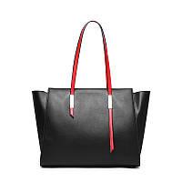 Женская сумка из натуральной кожи черного цвета Блеклайн С98, фото 1