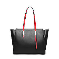 Жіноча сумка з натуральної шкіри чорного кольору Блеклайн С98, фото 1