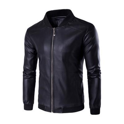 Мужская Куртка Бомбер Весна-Осень M (46-48) (MO235) Черная