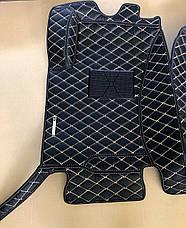 Комплект ковриков из экокожи для Toyota Prado 120, на 5 мест, фото 2